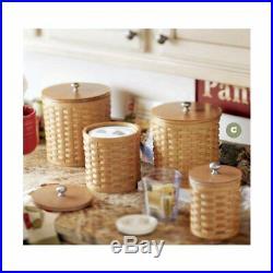 Longaberger Spring Floral CANISTER BASKET SET 4-Basket Liners New in Bags