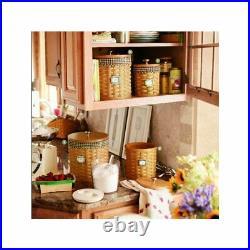 Longaberger Spring Floral CANISTER BASKET SET 4-Basket Liners S, M, L, XL