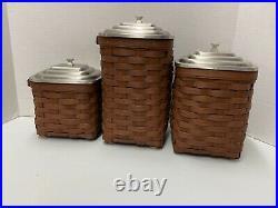 Longaberger Square Cannister Basket Set- RARE Apothecary