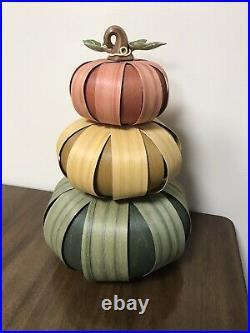 Longaberger Stacked Pumpkin Set