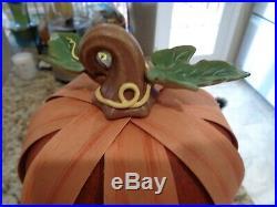 Longaberger Stacking Pumpkin Set Of 3 Pumpkins Stacked