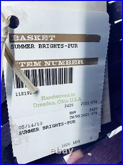 Longaberger Summer Brights Basket Set Of 2. 2 Protectors/ 1 LinerNEW Springtime