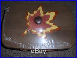 Longaberger, THE COLLECTORS CLUB MAPLE LEAVES FALL HARVEST BASKET Set NEW