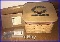 Longaberger TV Time NFL Chicago Bears Football Basket Combo Set