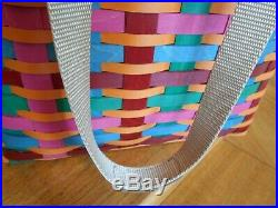 Longaberger Tote Basket Set colorful! Cabo San Lucas Trip 17 shipping included