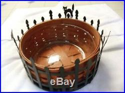 Longaberger Trick Or Treat Halloween Cat Bat Crow Moon Basket Set
