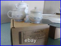 Longaberger USA Collector's Club Miniature Mini Tea Set with Cookie Jar NEW