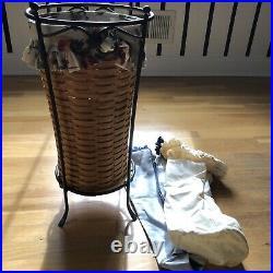 Longaberger Umbrella Basket and Stand Set