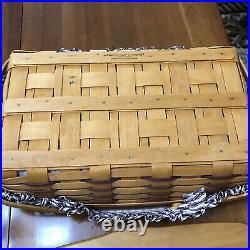 Longaberger Valentine Sweetheart Gourmet Gathering Basket Set Purple Weave