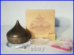 Longaberger Valentines Sweetheart Hershey's Kisses Basket set w liner tie on box