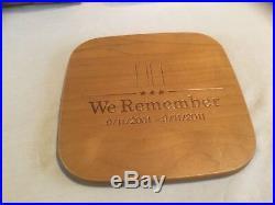 Longaberger WE REMEMBER 911 Basket Set With Lid & Protector Rare