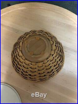 Longaberger Warm Brown Bowl Basket Sets- Set Of 4