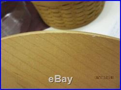 Longaberger Warm Brown Hat Box Basket Set