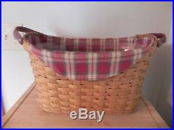 Longaberger Warm Brown Library Basket Set