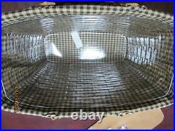 Longaberger Warm Brown Magazine Basket Set with NEW Lid