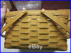 Longaberger Warm Brown Medium Market Basket Set with Lid