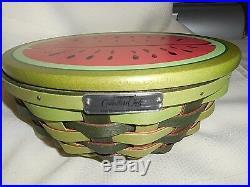 Longaberger Watermelon Basket Set Collectors Club Edition 2010
