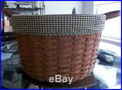 Longaberger Work Around, Pot o Gold, PARTY BASKET SET + 3 LINERS Rich Brown NEW