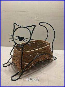 Longaberger Wrought Iron Black Cat 2009 Basket Set with protector. NO RESERVE