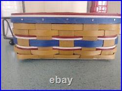 Longaberger Wrought Iron Caddy, American Celebrations basket set, 2 dispensers