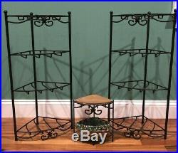 Longaberger Wrought Iron Corner Triangle Set of 3 Basket Organizer