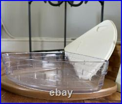 Longaberger Wrought Iron Countertop 2-Tier Corner Shelf Basket Set