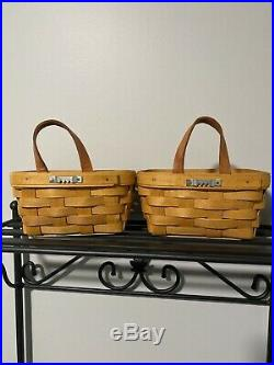 Longaberger Wrought Iron Stack Rack basket set EUC