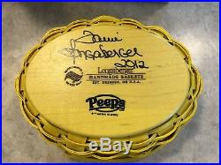 Longaberger YELLOW EASTER PEEPS Basket Set Signed By Tami Longaberger