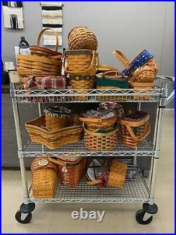 Longaberger basket set assorted sizes