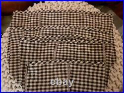Longaberger canister basket Khaki Check Liners set of 4 XL, L, M, and SMALL