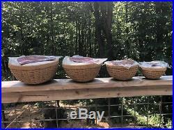 Longaburger Hostess 13 11 9 7 Bowl Baskets FULL SET Brand New-Set