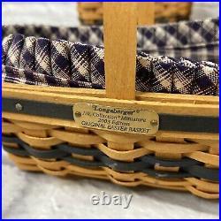 (Lot 10) Longaberger 1997-2004 J. W. Collectors Club CC Miniature Baskets Set