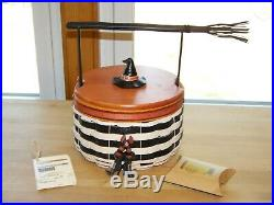 NEW Longaberger RARE 2013 Halloween WICKED WITCH Basket FULL Set with Tie On FrShp