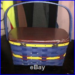 NWT Longaberger 2011 Basket Festival Crayola Crayon Basket Set Signed
