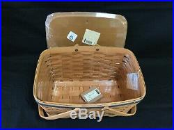 Navy Longaberger American Valor Medium Market Basket Set -Tie On