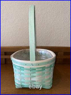 New 2021 Longaberger Large Jadeite Easter Basket Set With Protector
