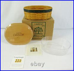 New Longaberger Collectors Club Set Of 5 Harmony Basket With Protectors & Lids