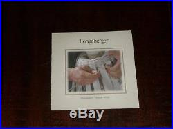 New Longaberger Hostess Housekeeper Basket Set Liner & Protector