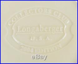 New Retired Longaberger 2004 Collectors Club Tea Tray Basket Set