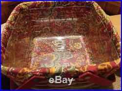 RARE! Longaberger Crimson Hill cake basket complete set! Mint condition