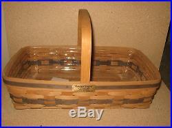 RARE Longaberger JW Collection 1988 Medium Gathering Basket Set FREE SHIPPING