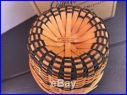 RARE Longaberger Miniature CORN Basket Set 16 Ears Corn Woodcrafts Lid-ADORABLE