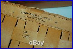 Rare Longaberger 2001 Basket Chess Set Combo w Lid Checkers & Chess