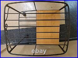 Rare Longaberger Hostess File Basket set & lid & WI Stand FREE SHIPPING to 48