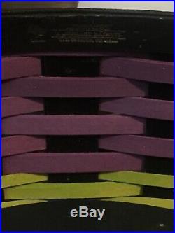 Rare longaberger prototype coffin basket set woven in unique colors