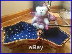 Red star basket combo set 3 lids prot 5 liners Boyd's bear Twinkle Longaberger