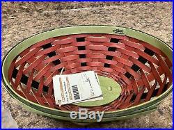 Set of 2 NWT Longaberger CC LARGE WATERMELON + 2010 CC Watermelon Baskets Box