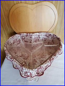 Set of 3 LONGABERGER 1999 & 2000 Sweetheart Series Baskets Love Tie-on included