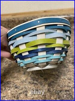 Set of 3 LONGABERGER Coastal Breeze Large Slope Basket + 2 Med Slope New No Box