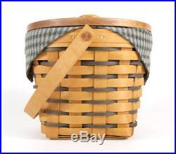 Set of 3 Longaberger Large Fruit Basket Lid Protector Crawford Barn 1998 95 99